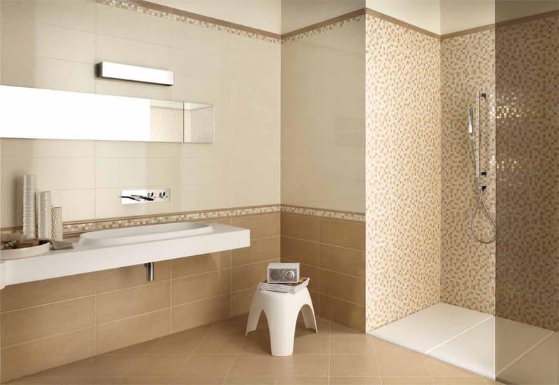 Piastrelle bagno beige e marrone. cheap bagni marazzi with