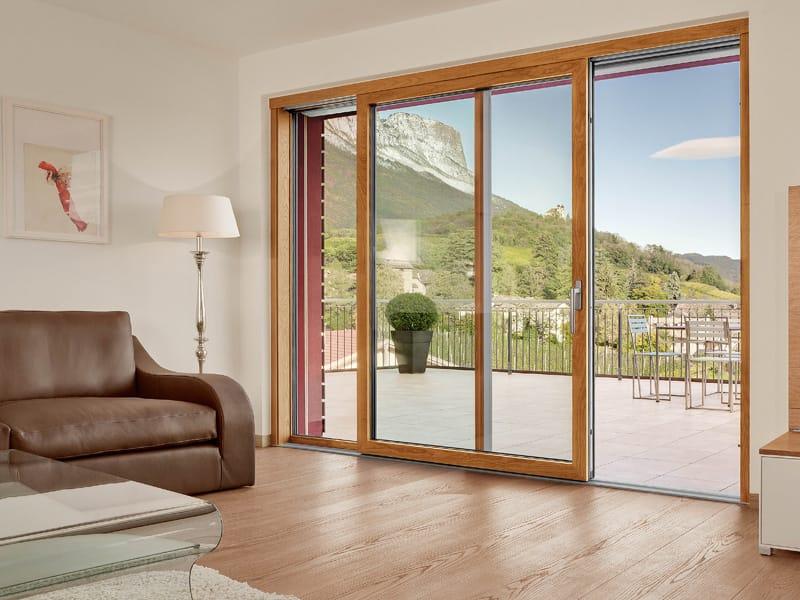 Nuovo sistema di finestre lignatec di finstral - Porta finestra scorrevole ...