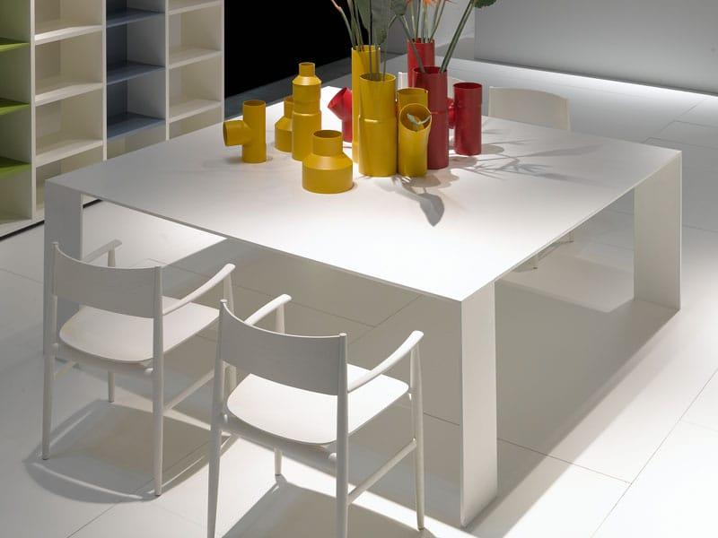 Tavolo Piano Sottile Kronos : Metallico by porro tavolo dallo spessore iper sottile