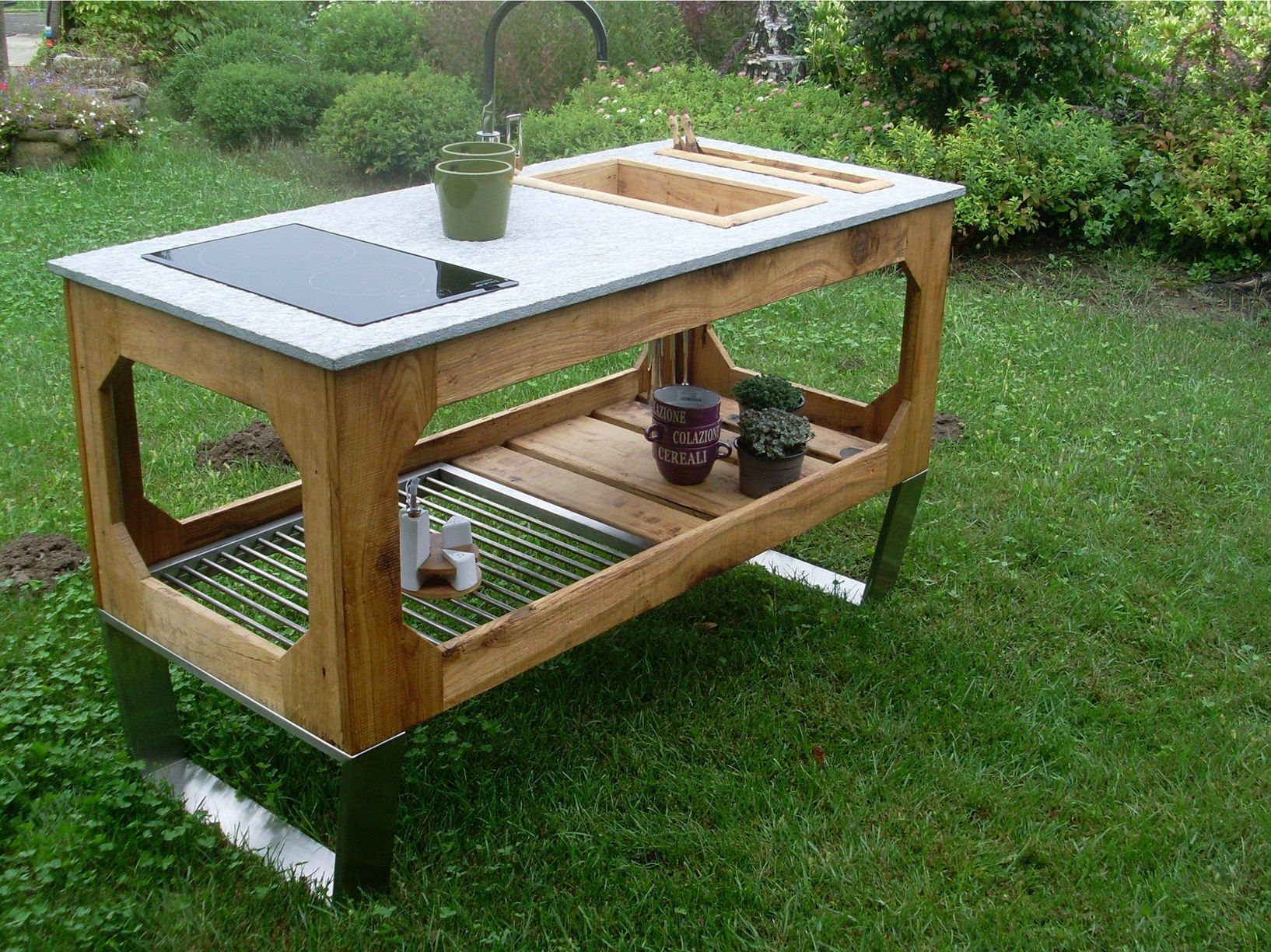 Lgtek outdoor arricchisce la gamma di cucine da esterno window - Cucina da giardino ...