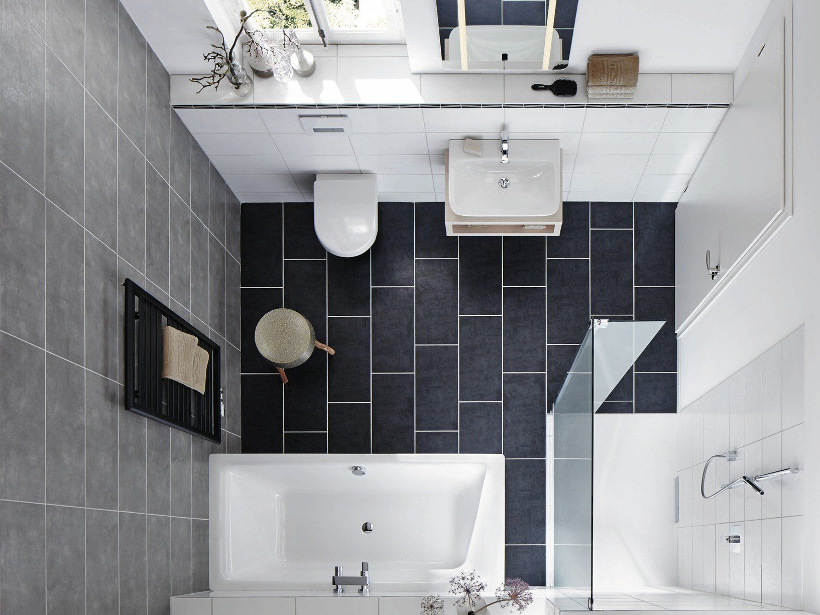Vasche da bagno e piatti doccia a filo pavimento kaldewei - Bagni piccoli con doccia ...