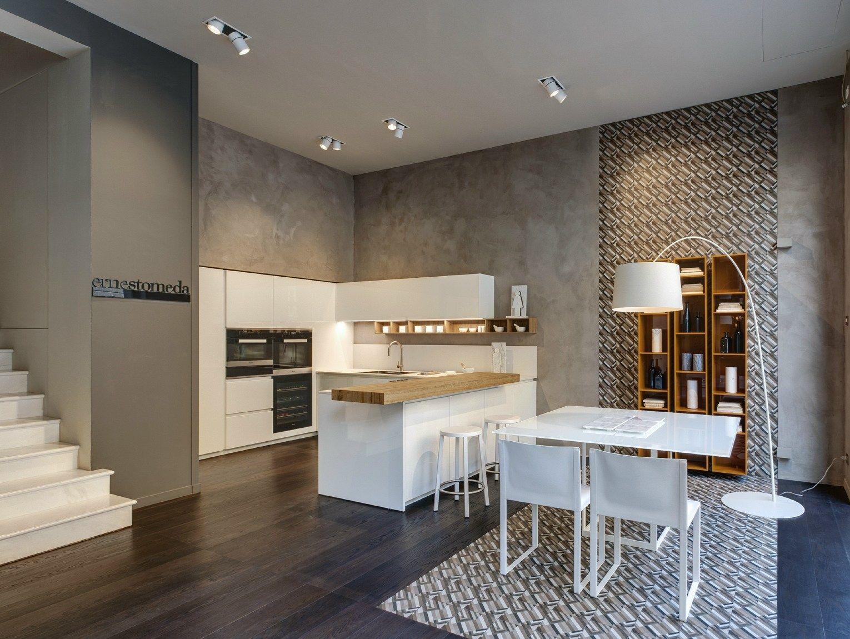 Tinte naturali e soft per il nuovo spazio ernestomeda a milano for Prezzi lucernari elettrici