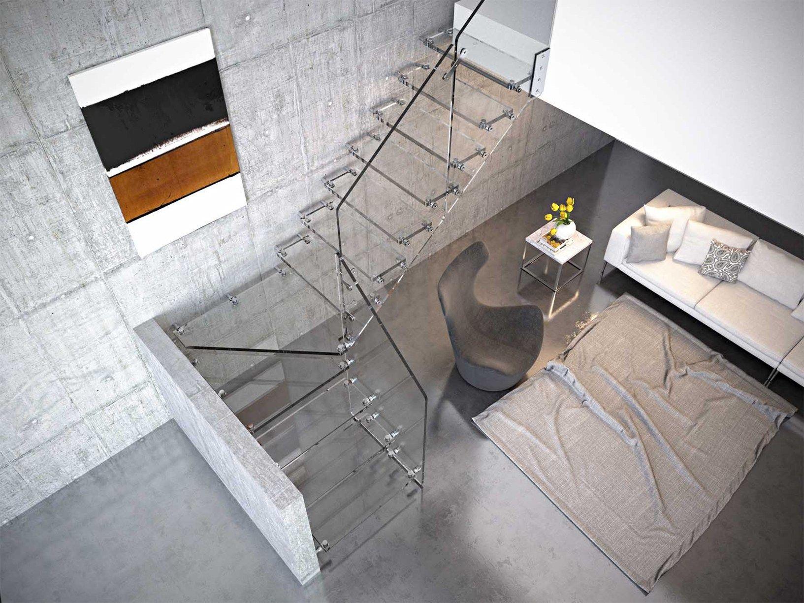 Scale elicoidali in legno, vetro e cemento