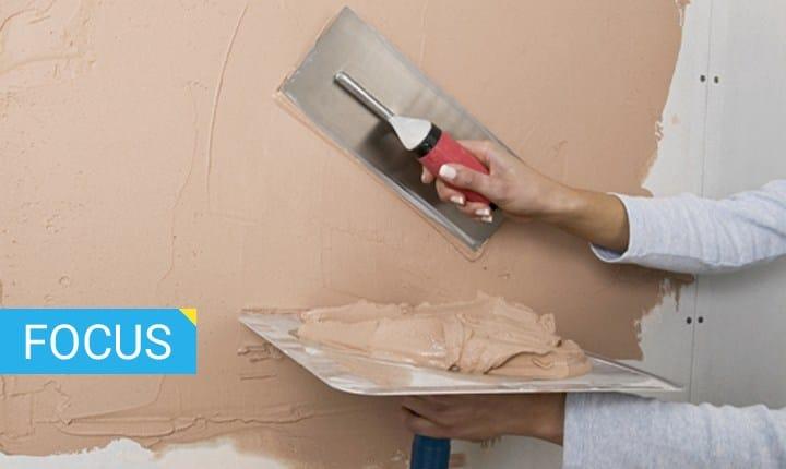 materiale per rasatura pareti