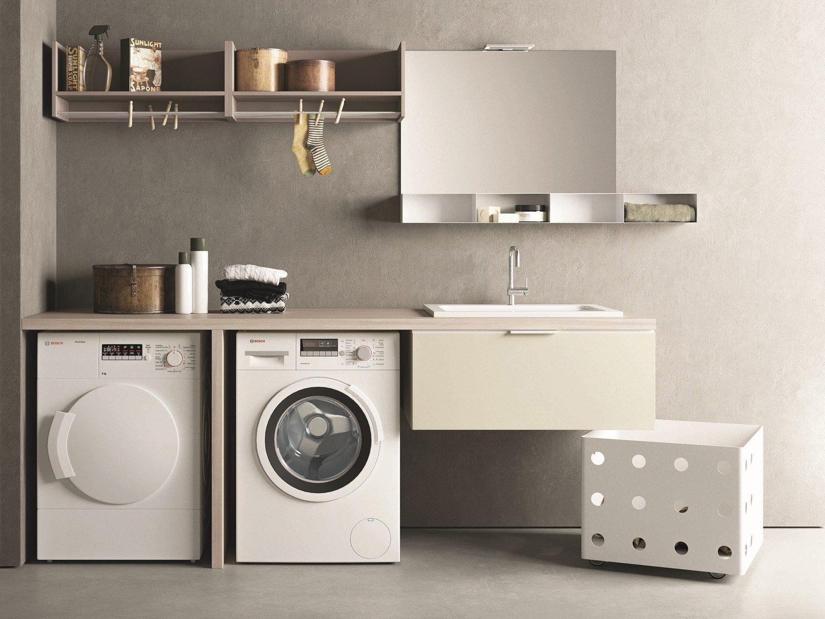 Drop la lavanderia componibile e modulare firmata novello - Mobile porta detersivi ...