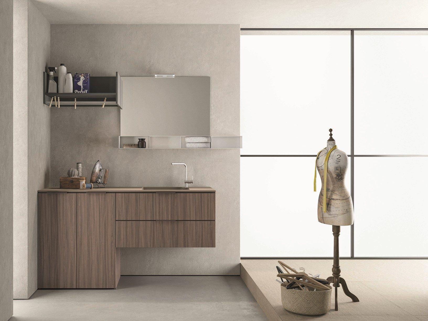 Drop la lavanderia componibile e modulare firmata novello - Novello mobili bagno ...