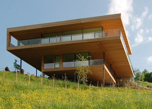 Svizzera la casa sul lago di k m architektur for Case costruite su pendii