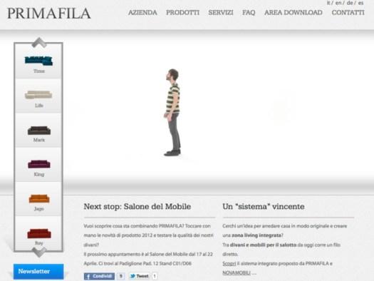 Primafila, il nuovo sito