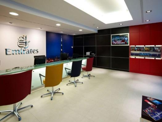 Sacea arreda il Town Office di Emirates Airlines