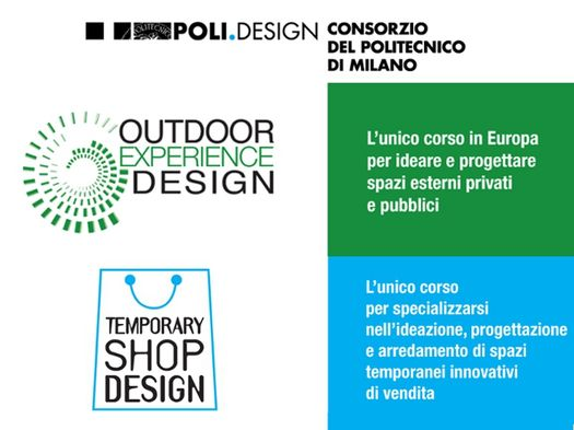 Corsi di Alta Formazioni al POLI.design, Temporary Shop Design - Outdoor Experience Design