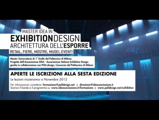 Master in Exhibition Design: Architettura dell Esporre