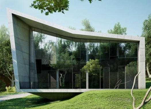the edge house architettura minimalista in cemento e vetro