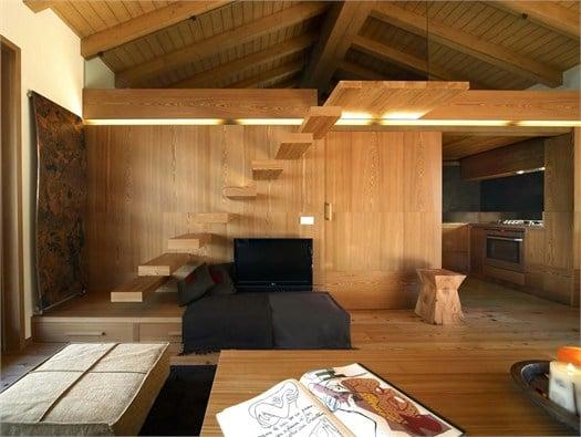 Interno fraciscio a campodolcino architettura scolpita - Interno case in legno ...