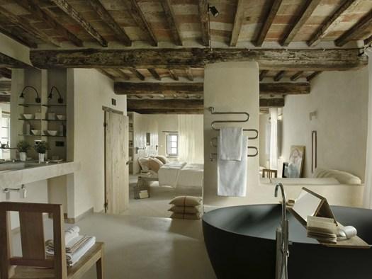 Val d 39 orcia il nuovo hotel disegnato da ilaria miani for Piccoli progetti di case toscane