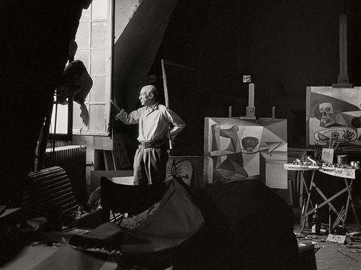 Pablo Picasso at his studio, 7 Rue des Grands Augustins, Paris, France, 1948 © Herbert List/Magnum Photos