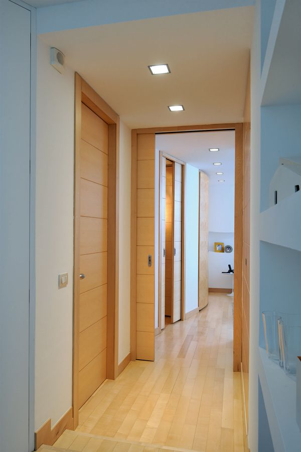 Fluidit degli spazi con i sistemi a scomparsa eclisse with parete cartongesso con porta - Parete attrezzata con porta scorrevole ...