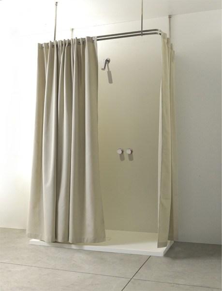 Colacril presenta la tenda vasca doccia disegnata da romano adolini - Tende per doccia bagno ...