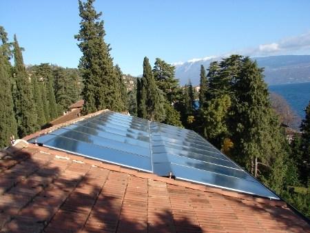 Solare termico firmato Wagner&Co Solar Italia per Villa Capri di Gardone Riviera