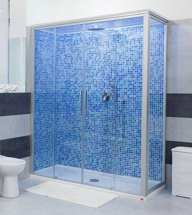 Trasformazione vasca in doccia di remail - Mosaici per doccia ...