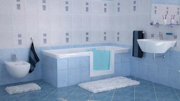 Sovrapposizione vasca con sportello di remail per anziani - Vasca bagno con sportello ...