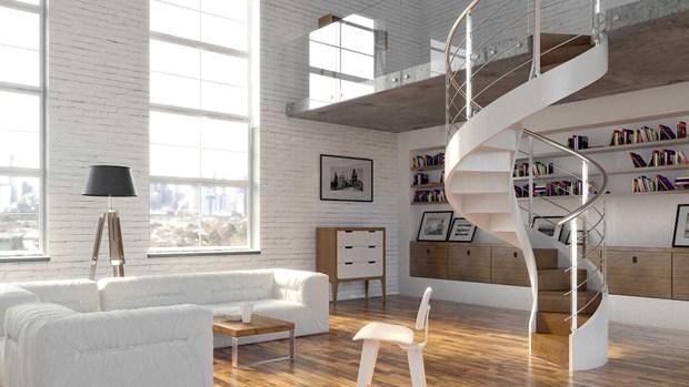 Linea cemento by rintal la materia diventa architettura - Scale in cemento per interni ...