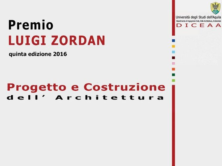 Al via la V edizione del Premio Luigi Zordan