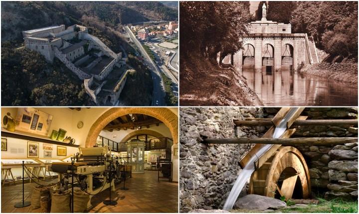 In viaggio tra opere idrauliche, mulini, fortificazioni e fabbriche
