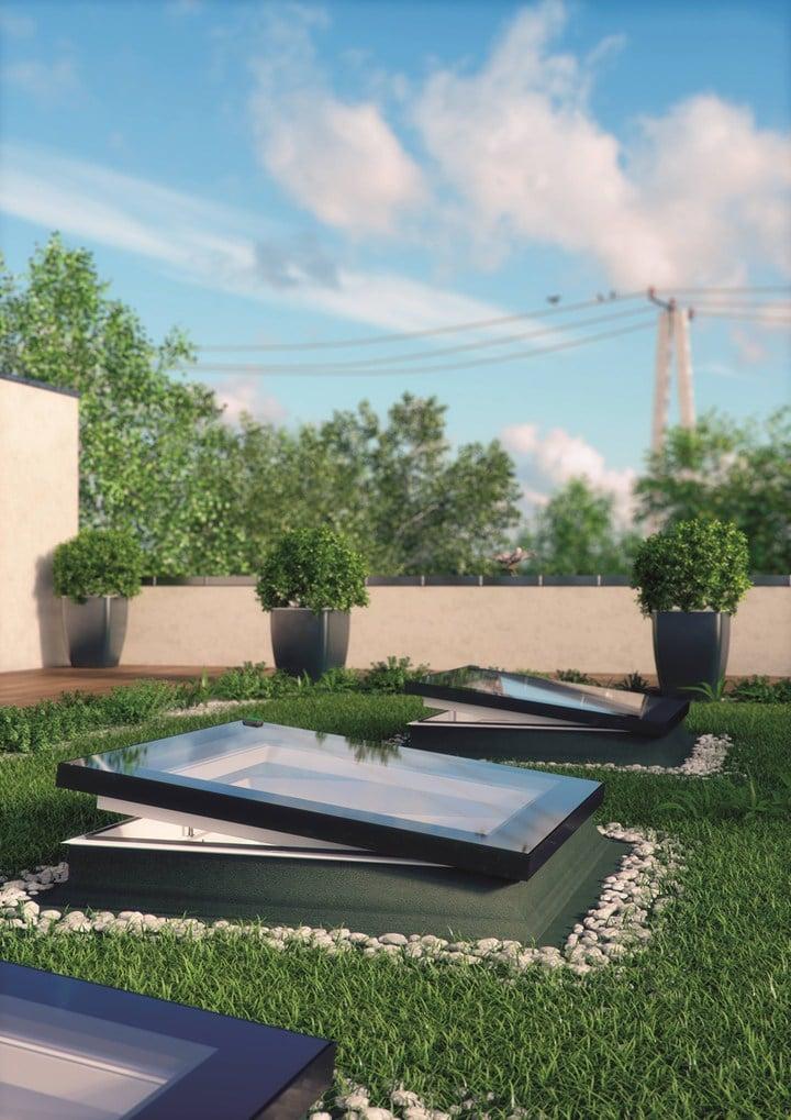 Finestra per tetti piatti Fakro modello F: efficienza energetica superiore