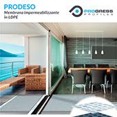 Membrana impermeabilizzante Prodeso per la posa di pavimentazioni