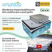 Volteco rivoluziona l'impermeabilizzazione con amphibia