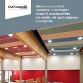 Controsoffitti Eurocoustic per ogni ambiente: scarica il catalogo