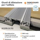 Giunti di dilatazione per l'edilizia progettati e prodotti in Italia: scarica il catalogo