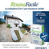 2 prodotti in 1 per le murature umide: RisanaFacile Fassa Bortolo