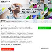 Partecipa all'evento Autodesk Forum 2017