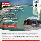 Impermeabilizzazione e finitura piscine con intonaco a vista Drizoro