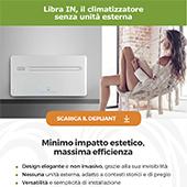 Cerchi un climatizzatore senza unità esterna? Scegli Libra IN