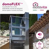 Minielevatore a vite domoFLEX line Mobivita senza opere murarie e fossa