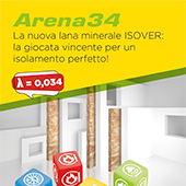 Lana minerale ISOVER Arena34 per un isolamento perfetto
