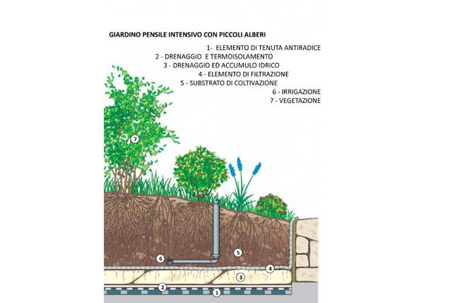 Tetti verdi e giardini verticali idee green per for Sezione tetto giardino