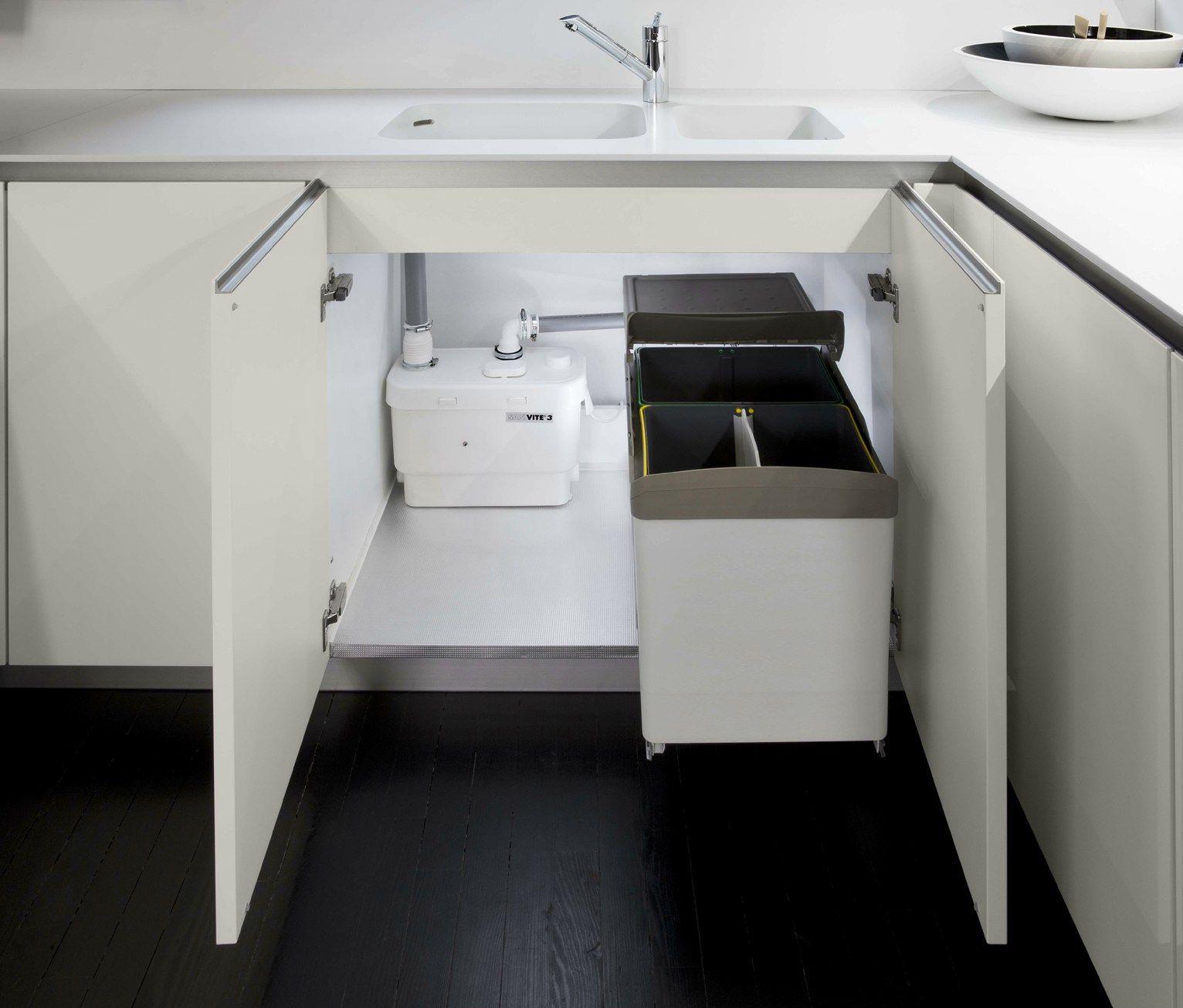 Sanivite di sanitrit la pompa per acque chiare che ottimizza gli spazi - Scarico cucina intasato ...