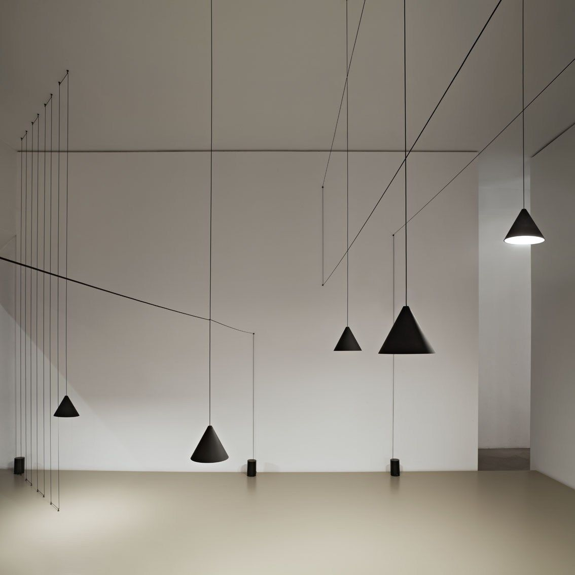 String Lights Interior Design : FLOS presents a special installation curated by Michael Anastassiades