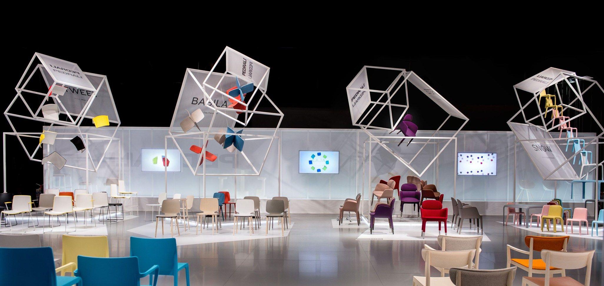 Migliore servetto for pedrali exhibition at isaloni for Fiera del mobile