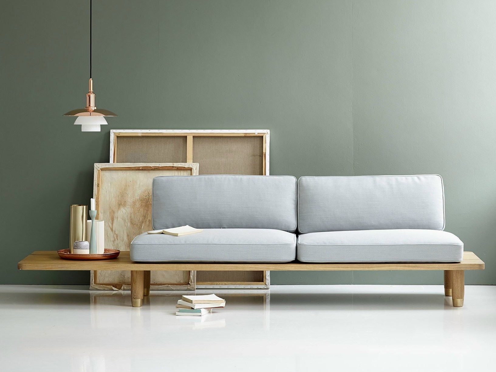 Scandinavian style international elegance plank sofa by dk3 for Scandinavian furniture