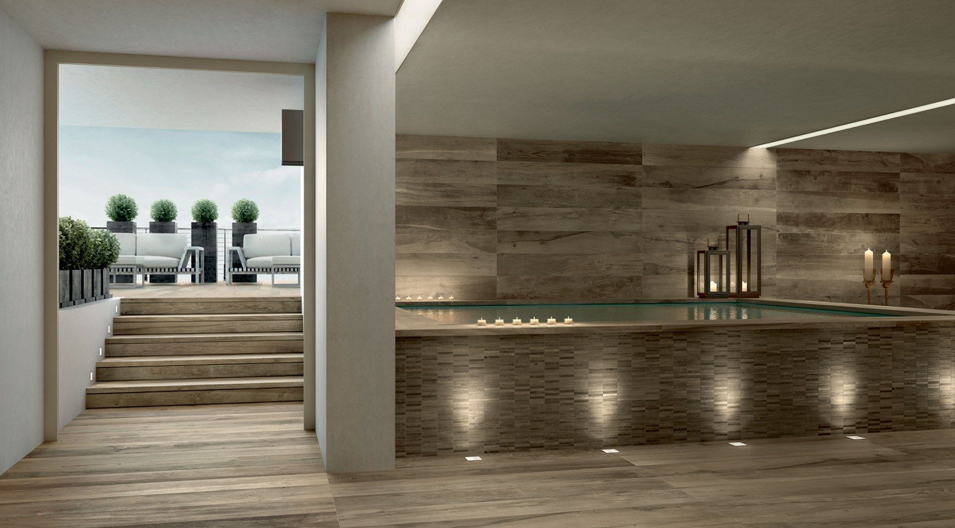 Ramacieri soligo presents the new collection woodside for Plancher exterieur