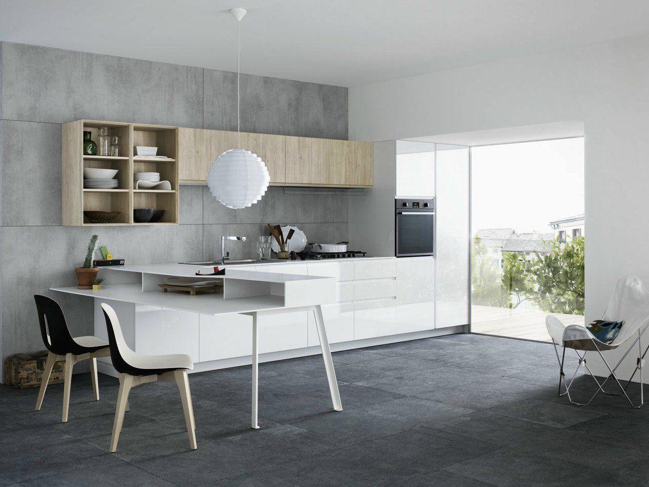 Mila cemento e legno di larice per l 39 ambiente cucina - Dimensione pensili cucina ...