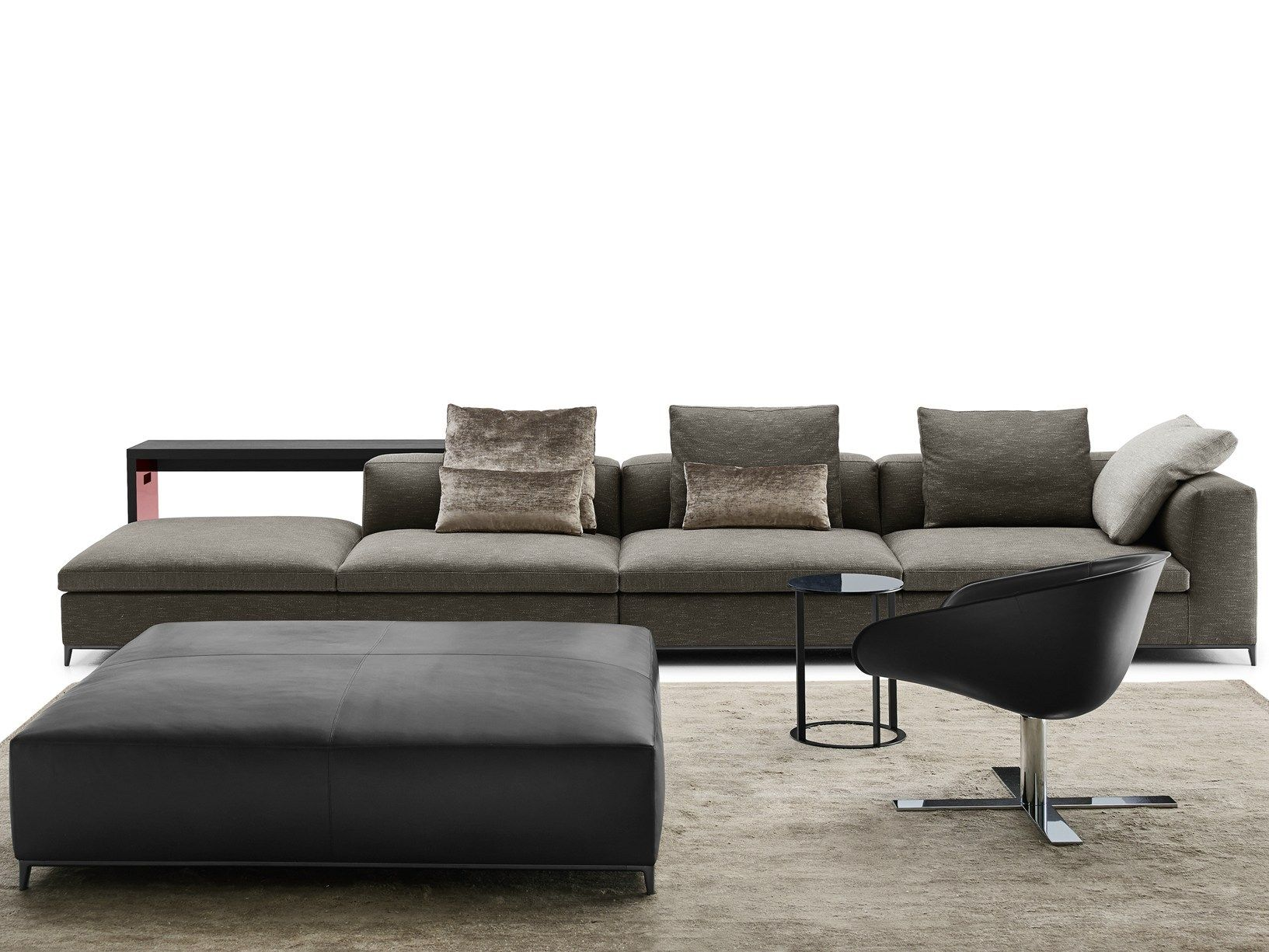 b b italia presents new proposals for living areas at imm cologne. Black Bedroom Furniture Sets. Home Design Ideas