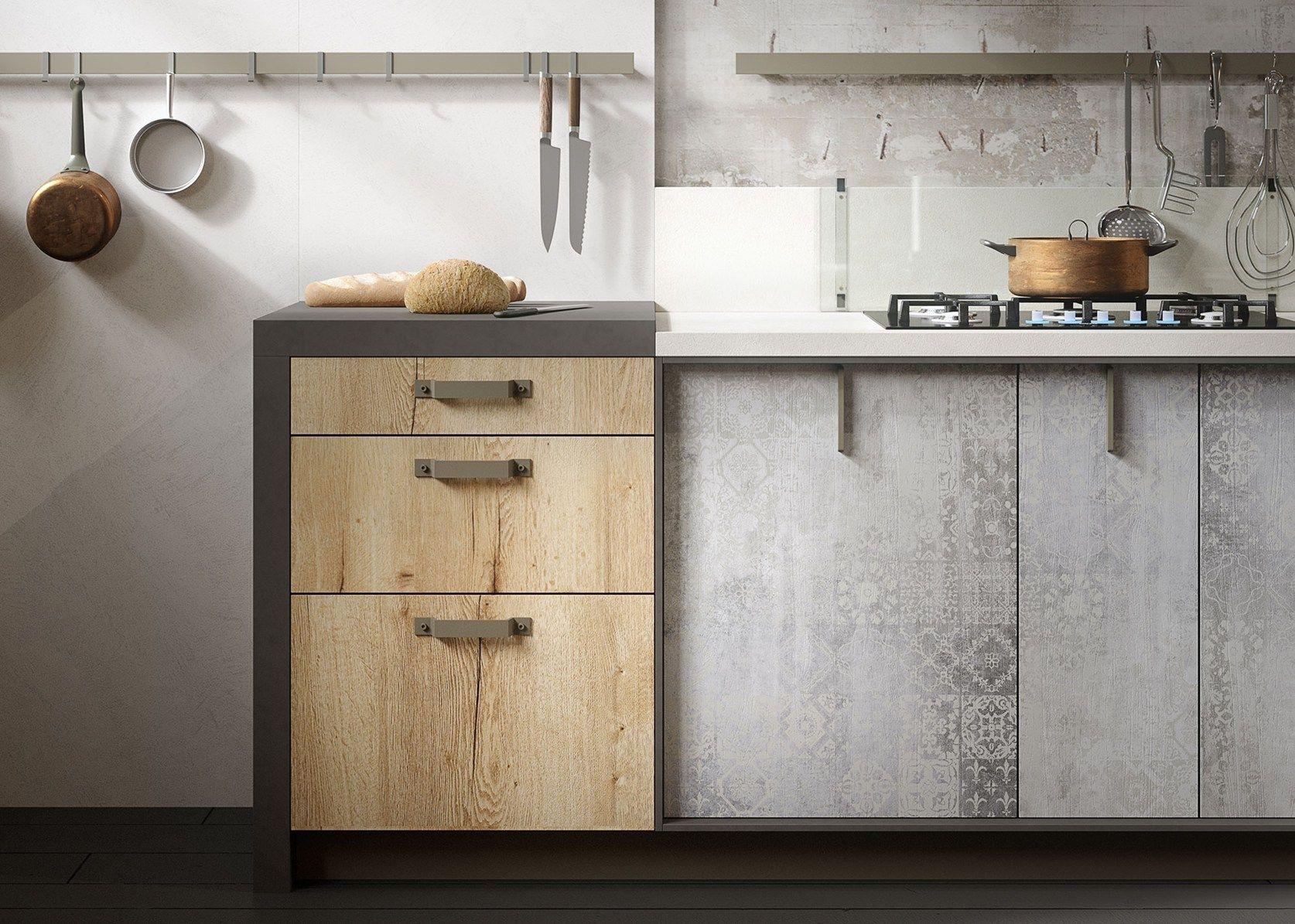 Legno vissuto metallo e vetro per la cucina loft - Cucine in legno grezzo ...