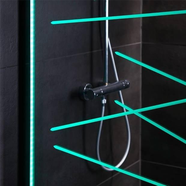 vegas la nouvelle paroi de douche clairant en led. Black Bedroom Furniture Sets. Home Design Ideas