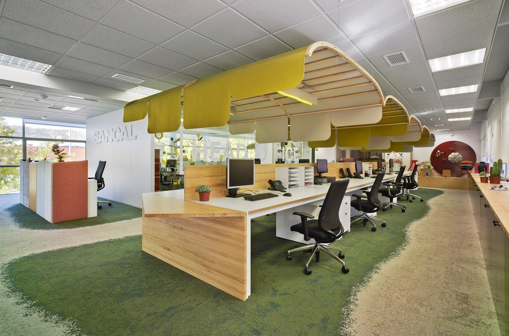 New sancal office an interior garden where vitality can flourish - Hello this is my new picture garden interior ...