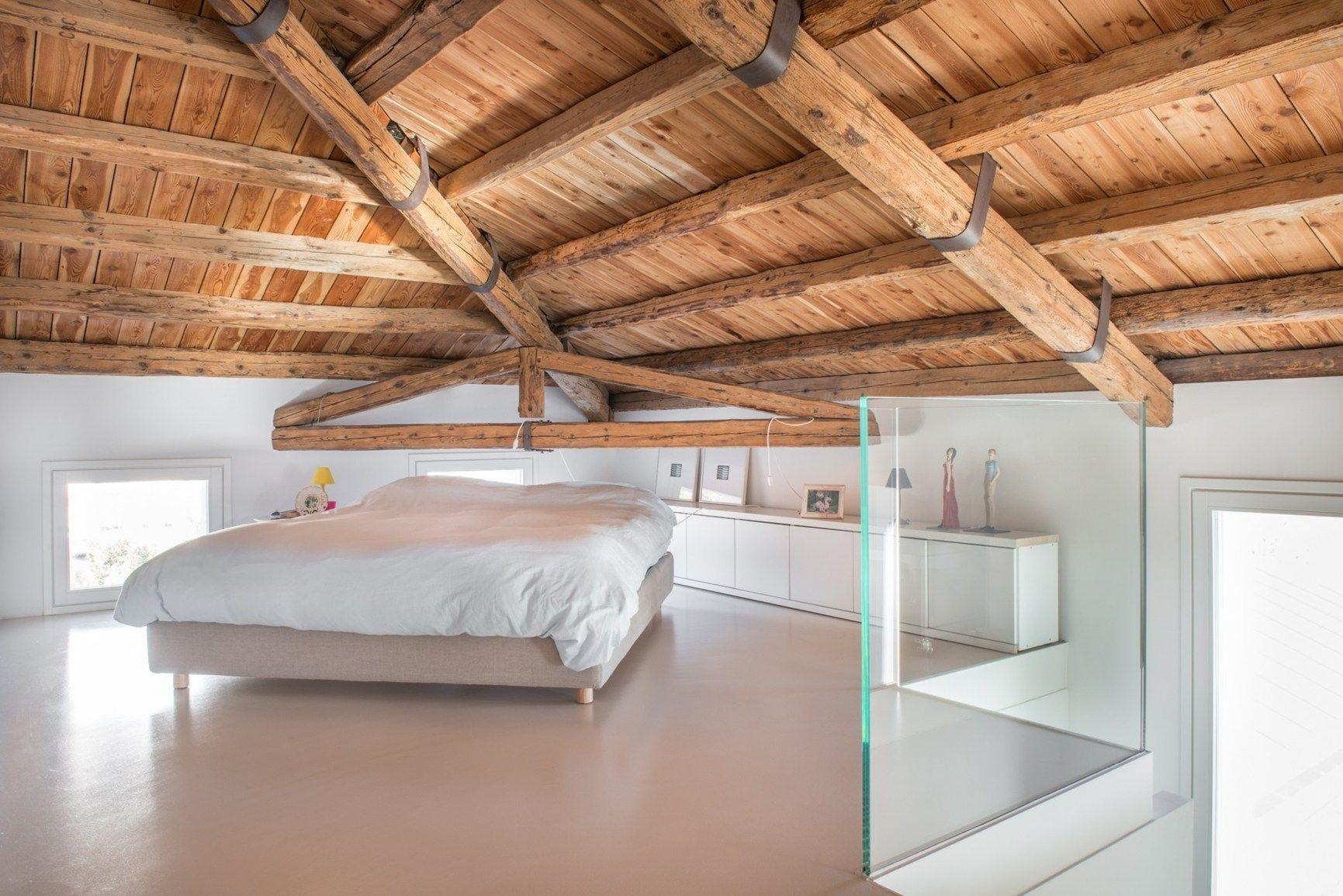 La camera da letto in mansarda - Camera da letto in mansarda bassa ...